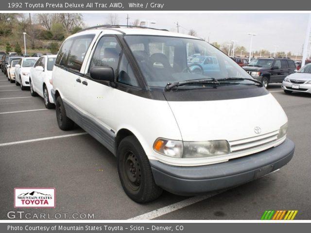 White - 1992 Toyota Previa Deluxe All Trac AWD - Gray