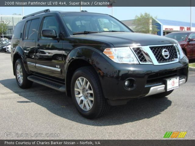 Super Black 2008 Nissan Pathfinder Le V8 4x4 Graphite Interior Gtcarlot Com Vehicle Archive 48328623