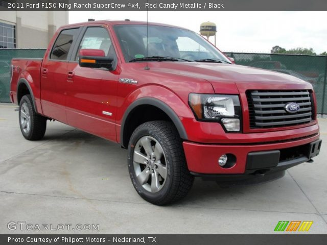 2011 Ford F150 King Ranch SuperCrew 4x4 in Red Candy Metallic