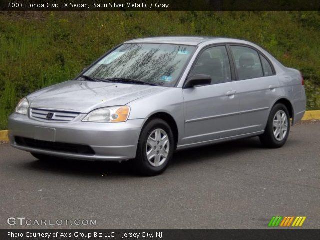 satin silver metallic 2003 honda civic lx sedan gray interior vehicle. Black Bedroom Furniture Sets. Home Design Ideas