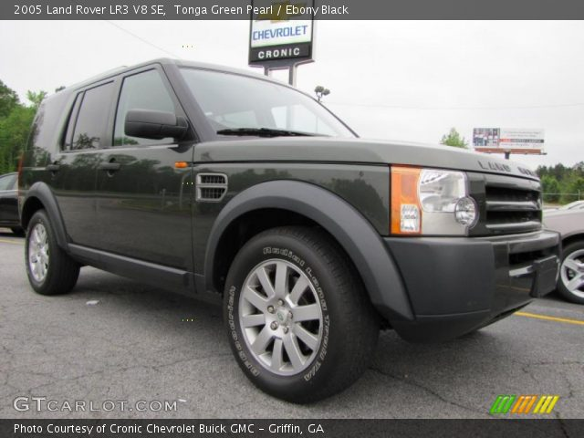 tonga green pearl 2005 land rover lr3 v8 se ebony. Black Bedroom Furniture Sets. Home Design Ideas