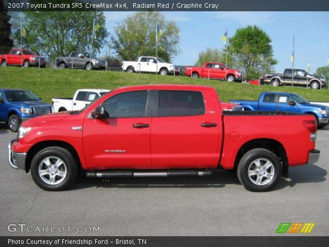 radiant red 2007 toyota tundra sr5 crewmax 4x4 graphite gray interior. Black Bedroom Furniture Sets. Home Design Ideas