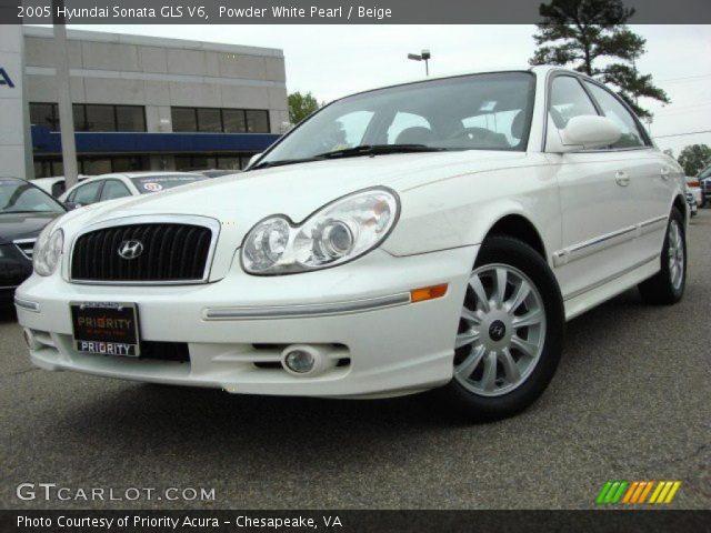 powder white pearl 2005 hyundai sonata gls v6 beige interior vehicle. Black Bedroom Furniture Sets. Home Design Ideas