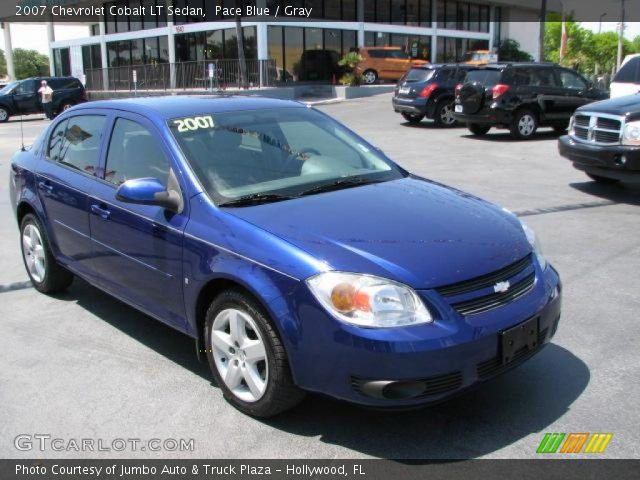 pace blue 2007 chevrolet cobalt lt sedan gray interior. Black Bedroom Furniture Sets. Home Design Ideas