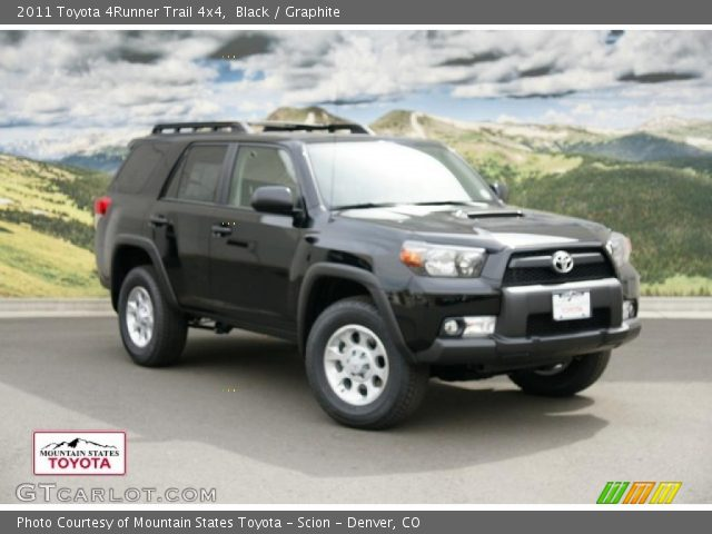 black 2011 toyota 4runner trail 4x4 graphite interior. Black Bedroom Furniture Sets. Home Design Ideas