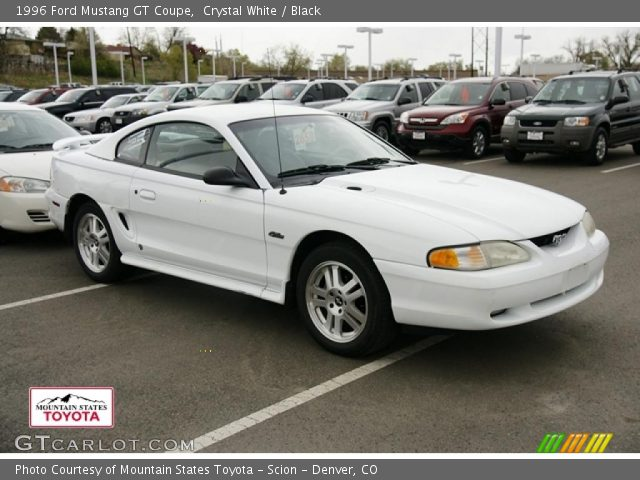 Crystal White 1996 Ford Mustang Gt Coupe Black Interior Vehicle Archive