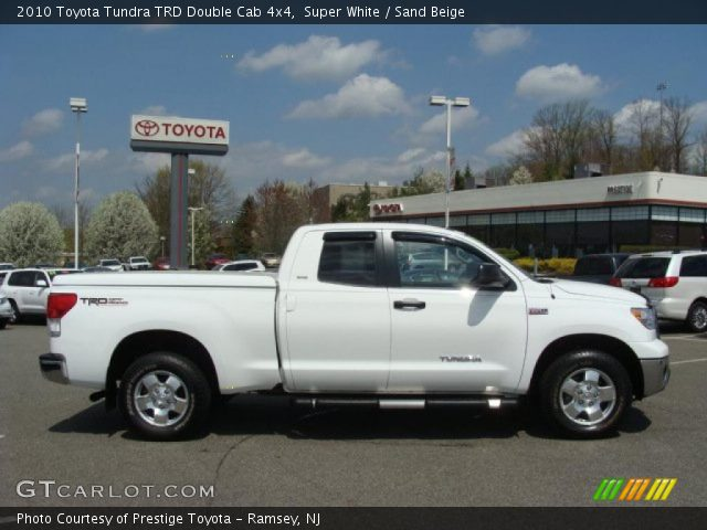 super white 2010 toyota tundra trd double cab 4x4 sand. Black Bedroom Furniture Sets. Home Design Ideas
