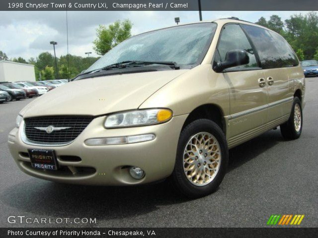 champagne pearl 1998 chrysler town country lxi camel interior vehicle. Black Bedroom Furniture Sets. Home Design Ideas