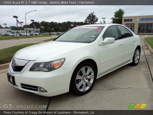alberta white pearl 2009 acura rl 3 7 awd sedan. Black Bedroom Furniture Sets. Home Design Ideas