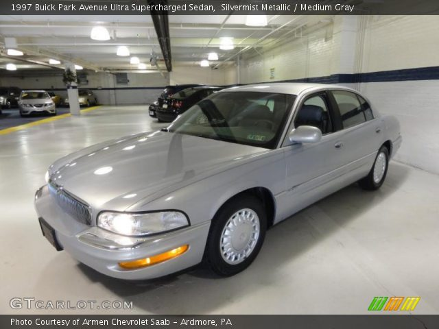 silvermist metallic 1997 buick park avenue ultra supercharged sedan medium gray interior. Black Bedroom Furniture Sets. Home Design Ideas