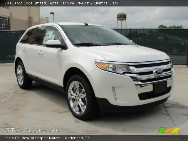 white platinum tri coat 2011 ford edge limited. Black Bedroom Furniture Sets. Home Design Ideas