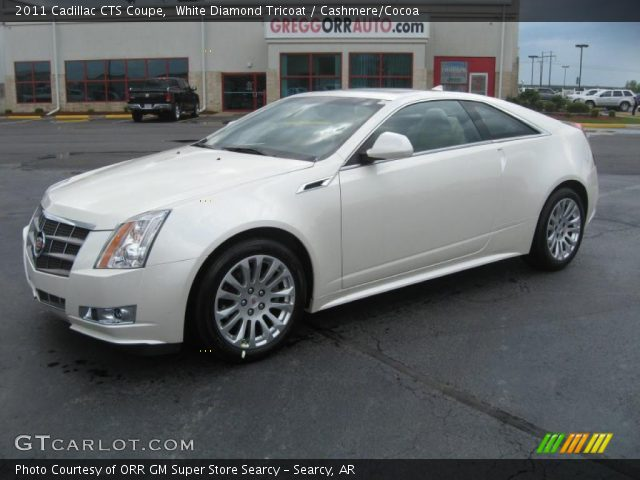 2011 Cadillac CTS Coupe in White Diamond Tricoat