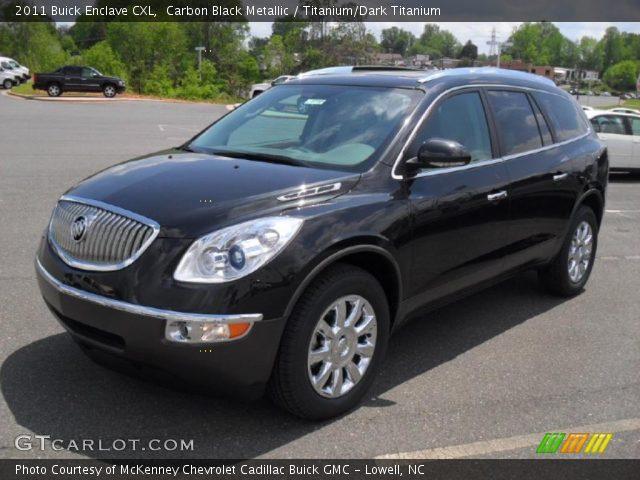 Carbon Black Metallic 2011 Buick Enclave Cxl Titanium Dark Titanium Interior