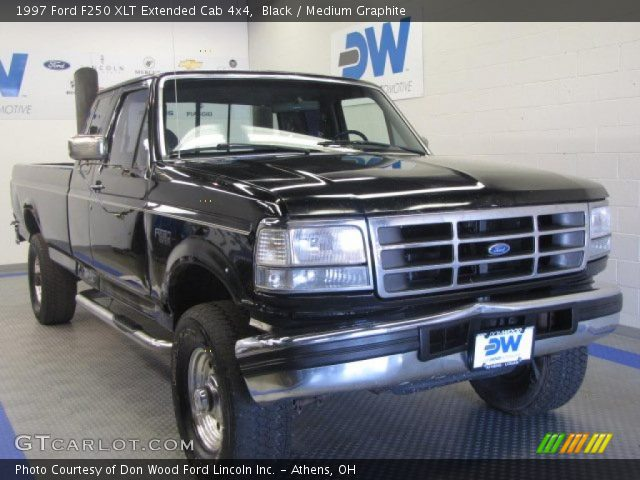 black 1997 ford f250 xlt extended cab 4x4 medium. Black Bedroom Furniture Sets. Home Design Ideas