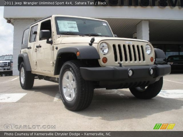 Sahara Tan 2011 Jeep Wrangler Unlimited Sport 4x4 Black Interior Vehicle
