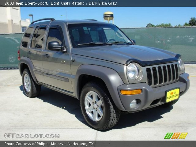 Light Khaki Metallic 2003 Jeep Liberty Sport Dark Slate Gray Interior