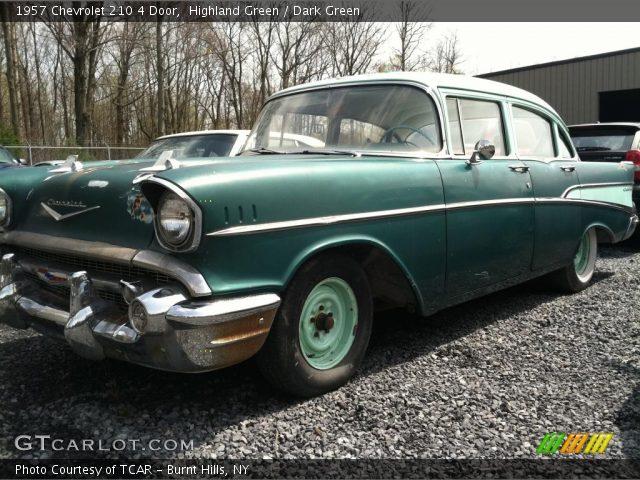 Highland green 1957 chevrolet 210 4 door dark green for 1957 chevy 210 4 door