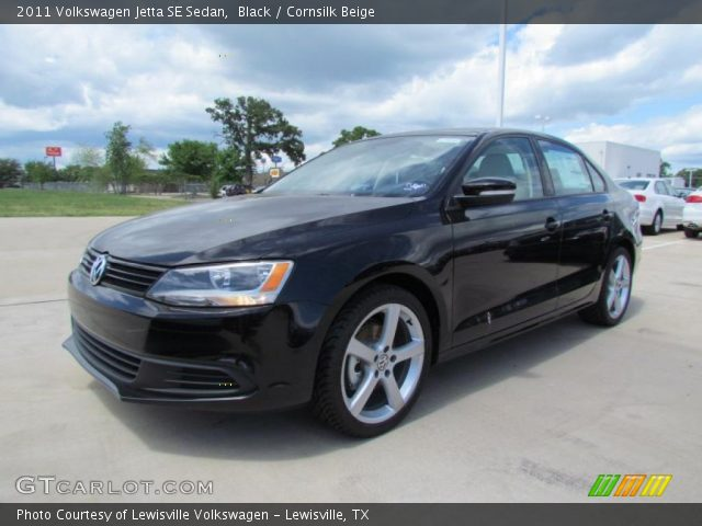 black 2011 volkswagen jetta se sedan cornsilk beige. Black Bedroom Furniture Sets. Home Design Ideas