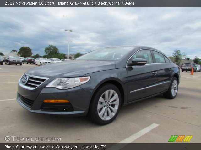 island gray metallic 2012 volkswagen cc sport black cornsilk beige interior. Black Bedroom Furniture Sets. Home Design Ideas