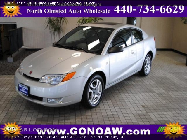 2004 Saturn ION 3 Quad Coupe in Silver Nickel