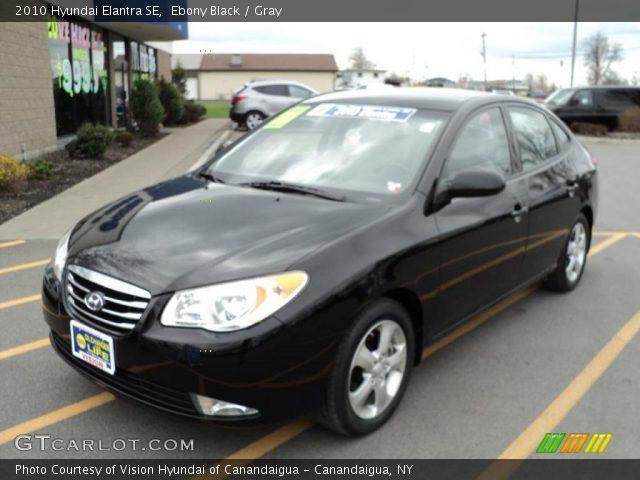 Ebony Black - 2010 Hyundai Elantra SE - Gray Interior ...