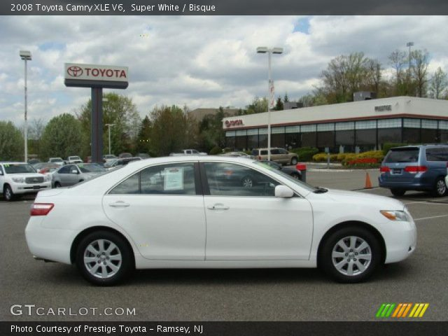 super white 2008 toyota camry xle v6 bisque interior vehicle archive 48663492. Black Bedroom Furniture Sets. Home Design Ideas