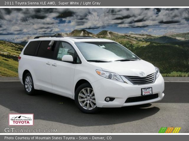 2013 Toyota Sienna Xle Awd In Super White Click To See Large Photo
