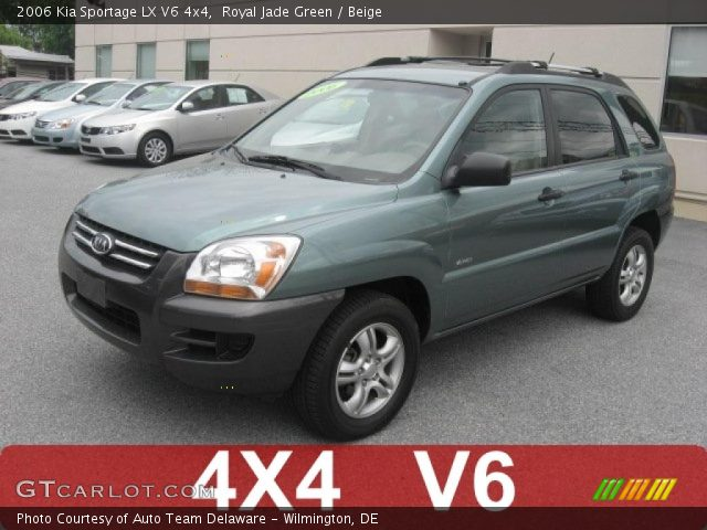 royal jade green 2006 kia sportage lx v6 4x4 beige. Black Bedroom Furniture Sets. Home Design Ideas