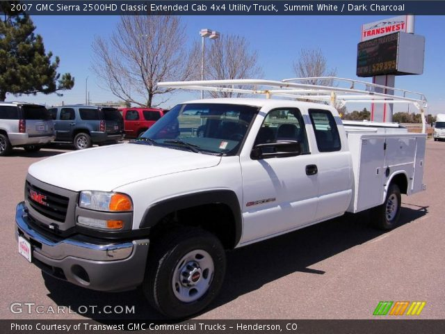 summit white 2007 gmc sierra 2500hd classic extended cab. Black Bedroom Furniture Sets. Home Design Ideas