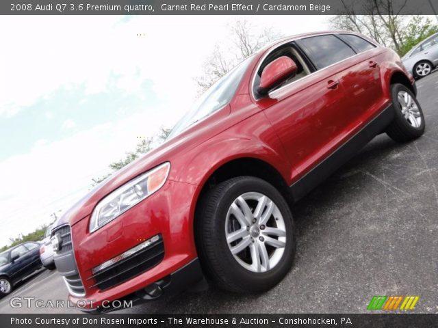 garnet red pearl effect 2008 audi q7 3 6 premium quattro. Black Bedroom Furniture Sets. Home Design Ideas