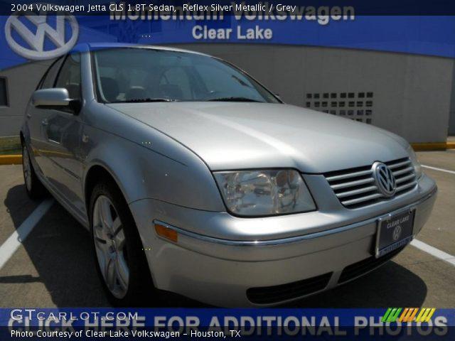 reflex silver metallic 2004 volkswagen jetta gls 1 8t sedan grey interior. Black Bedroom Furniture Sets. Home Design Ideas