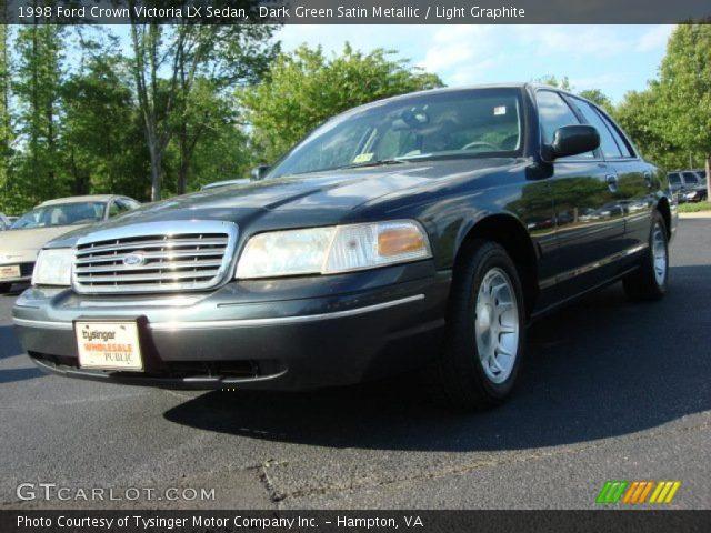 Dark Green Satin Metallic 1998 Ford Crown Victoria Lx Sedan Light Graphite Interior