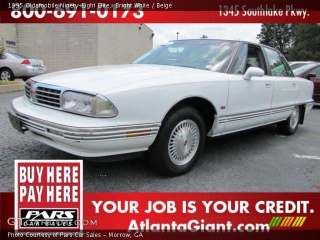 bright white 1995 oldsmobile ninety eight elite beige interior vehicle. Black Bedroom Furniture Sets. Home Design Ideas