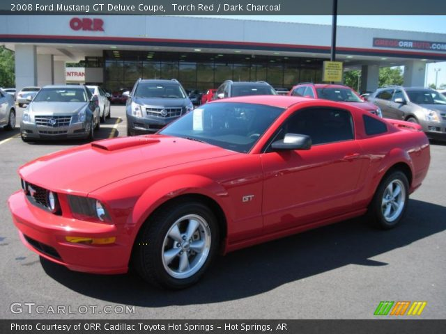 torch red 2008 ford mustang gt deluxe coupe dark charcoal interior vehicle. Black Bedroom Furniture Sets. Home Design Ideas
