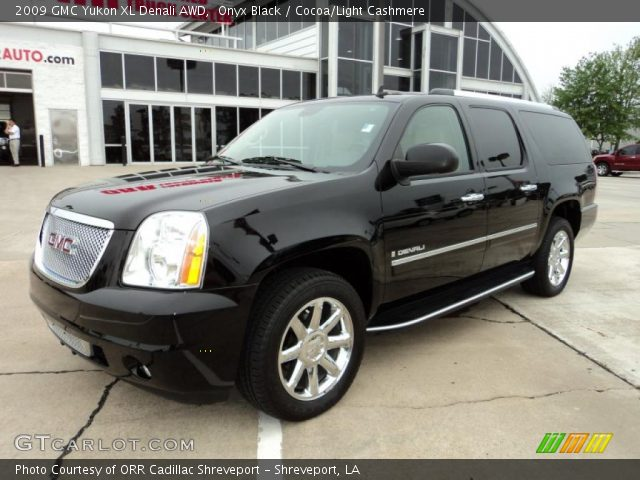 onyx black 2009 gmc yukon xl denali awd cocoa light. Black Bedroom Furniture Sets. Home Design Ideas