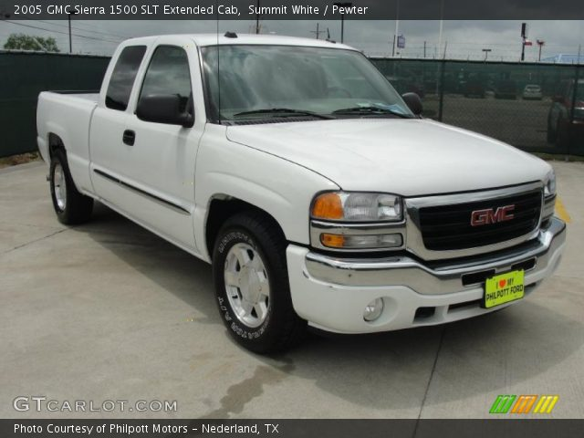 summit white 2005 gmc sierra 1500 slt extended cab pewter interior vehicle. Black Bedroom Furniture Sets. Home Design Ideas