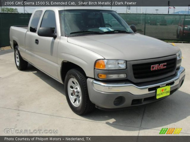2006 GMC Sierra 1500 SL Extended Cab in Silver Birch Metallic
