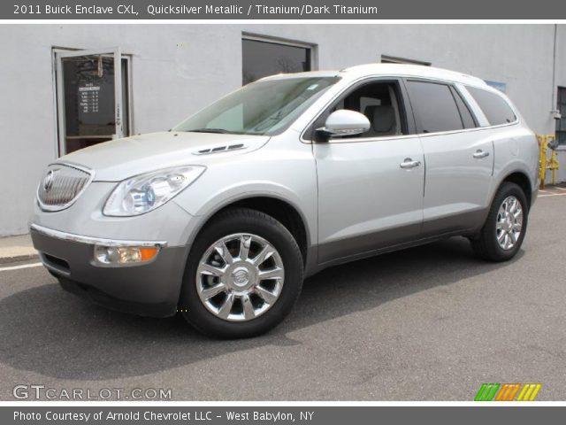 Quicksilver Metallic 2011 Buick Enclave Cxl Titanium Dark Titanium Interior
