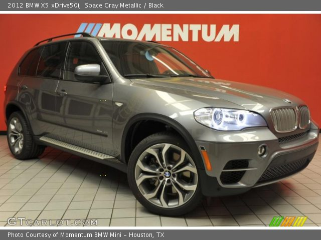 space gray metallic 2012 bmw x5 xdrive50i black interior vehicle archive. Black Bedroom Furniture Sets. Home Design Ideas