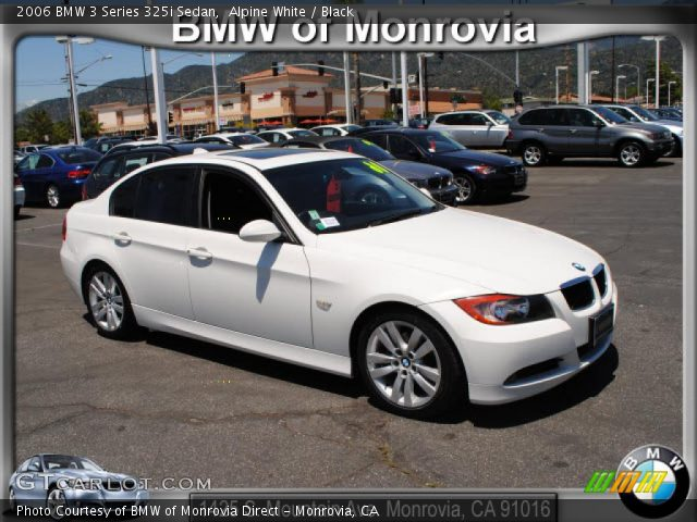 Alpine White 2006 Bmw 3 Series 325i Sedan Black