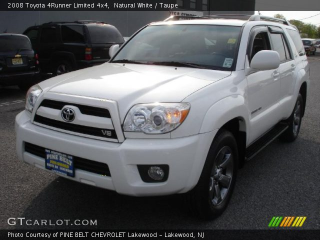natural white 2008 toyota 4runner limited 4x4 taupe interior vehicle. Black Bedroom Furniture Sets. Home Design Ideas