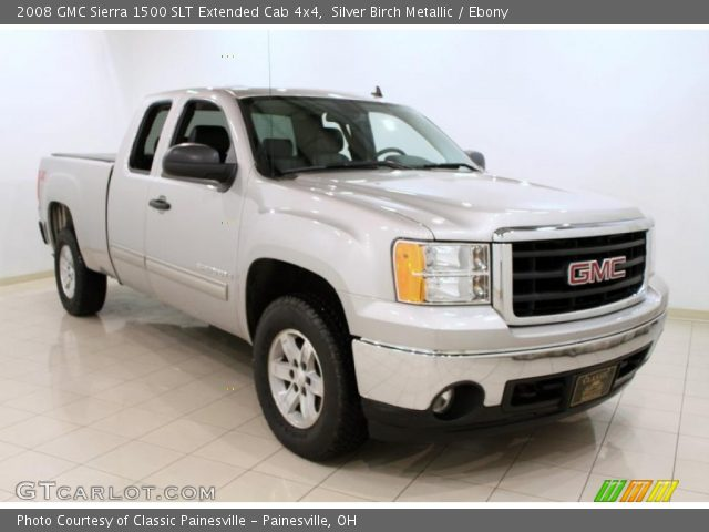 silver birch metallic 2008 gmc sierra 1500 slt extended. Black Bedroom Furniture Sets. Home Design Ideas