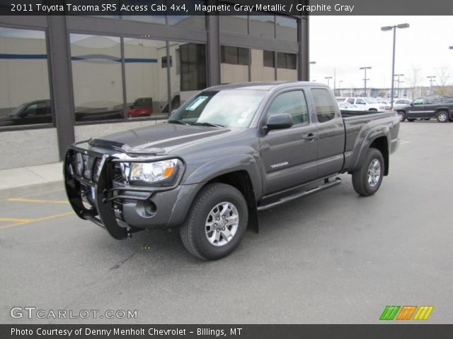 magnetic gray metallic 2011 toyota tacoma sr5 access cab 4x4 graphite gray interior. Black Bedroom Furniture Sets. Home Design Ideas