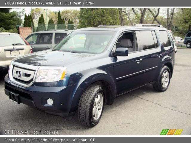 Bali Blue Pearl 2009 Honda Pilot Ex L 4wd Gray Interior Vehicle Archive