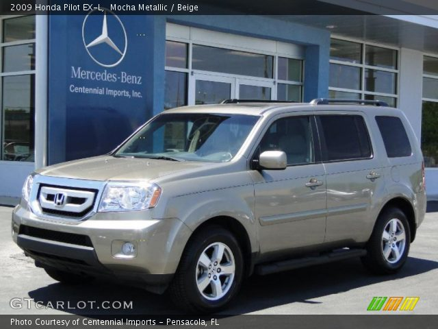 Mocha Metallic 2009 Honda Pilot Ex L Beige Interior Vehicle Archive 48925493