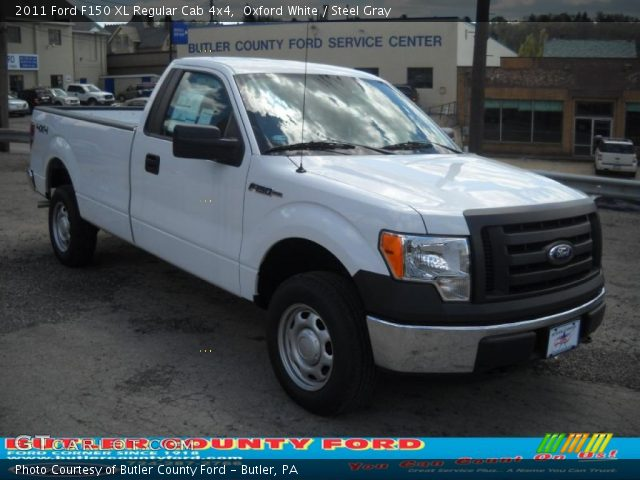 oxford white 2011 ford f150 xl regular cab 4x4 steel gray interior vehicle. Black Bedroom Furniture Sets. Home Design Ideas