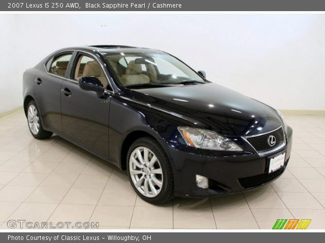 black sapphire pearl 2007 lexus is 250 awd cashmere interior vehicle. Black Bedroom Furniture Sets. Home Design Ideas