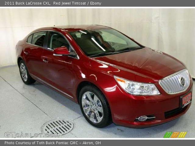 Red Jewel Tintcoat 2011 Buick Lacrosse Cxl Ebony Interior Vehicle Archive