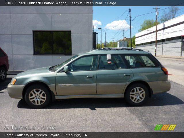 Seamist Green Pearl 2003 Subaru Outback Limited Wagon Beige