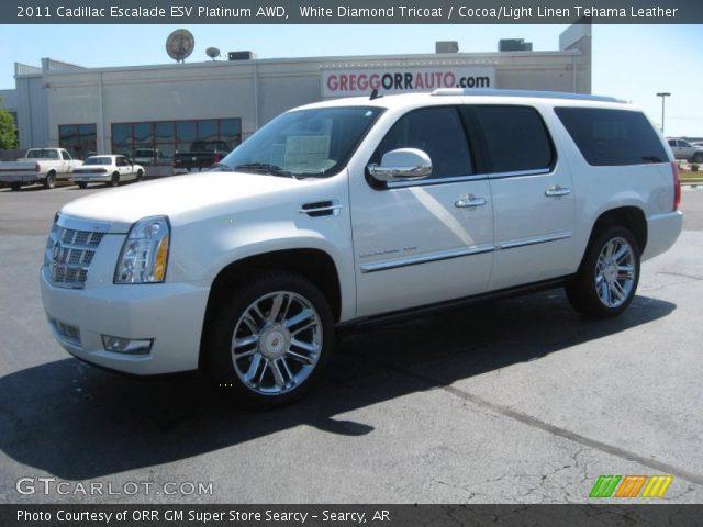 2011 Cadillac Escalade ESV Platinum AWD in White Diamond Tricoat